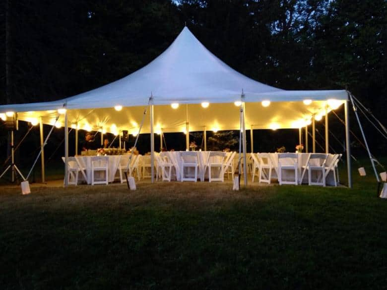 Party Tents and Canopies Rentals in different Sizes