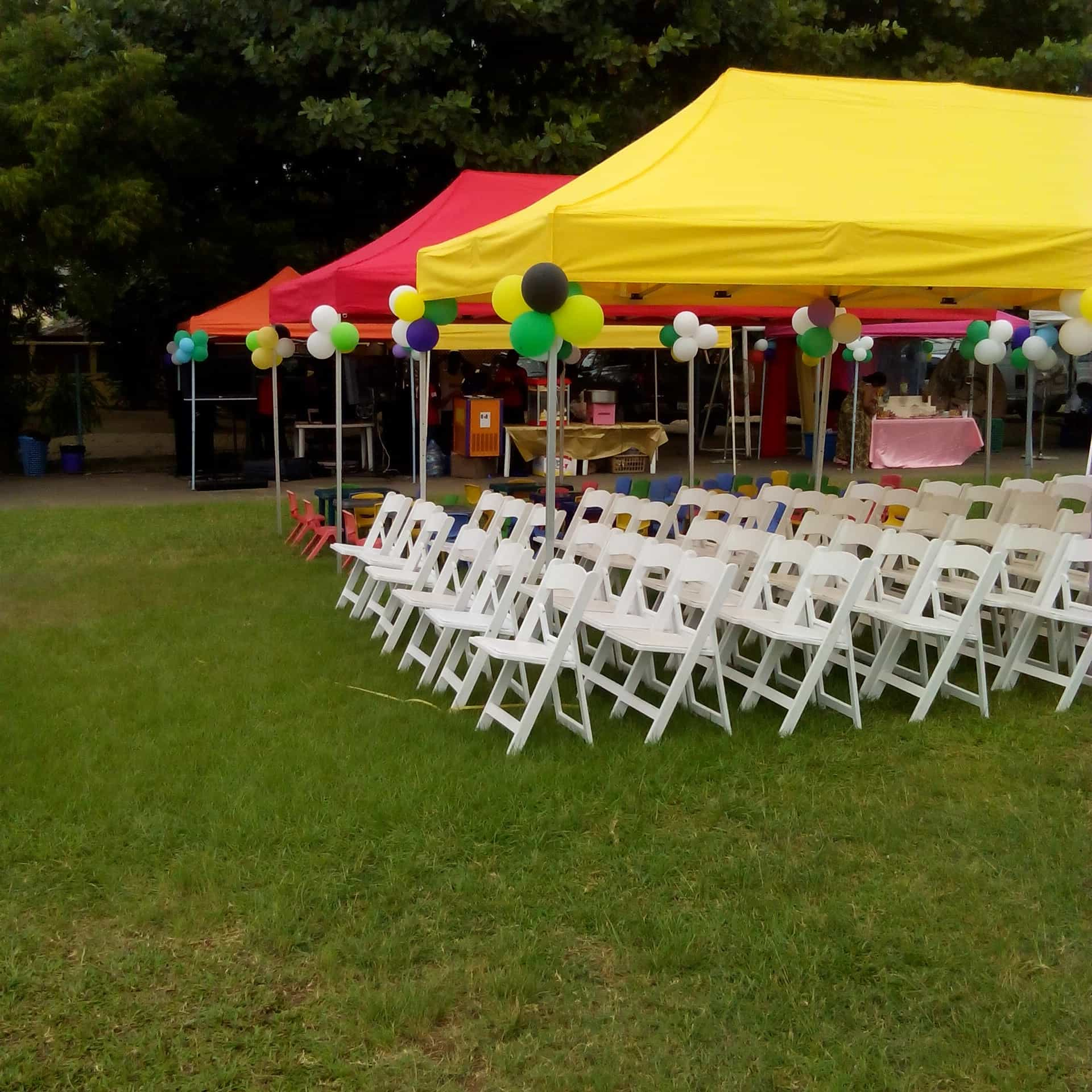 Your Event and Party Rentals in Nigeria tents tables chairs