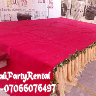 , 24ft x12ft Stage, Your Event and Party Rentals in Nigeria. tents, tables, chairs, Canopies
