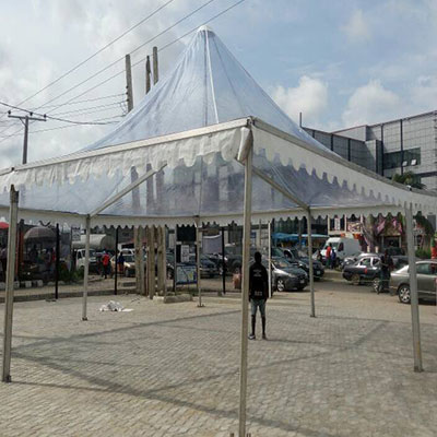 , 33ft x33ft transparent pagoda, Your Event and Party Rentals in Nigeria. tents, tables, chairs, Canopies