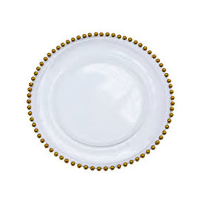 , Gold beaded Charger Plate, Your Event and Party Rentals in Nigeria. tents, tables, chairs, Canopies