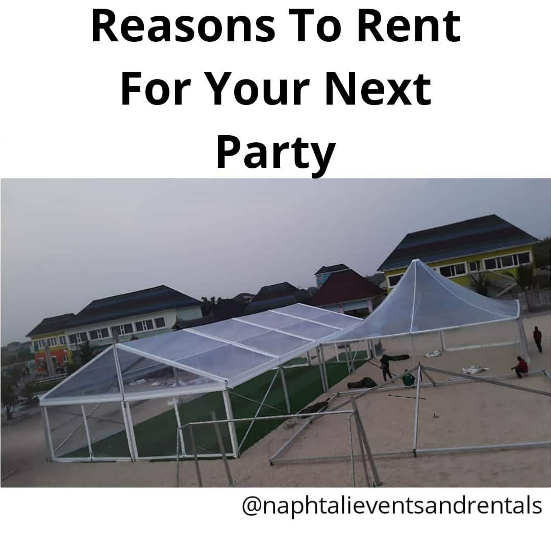 Renting For Your Next Party Will Allow You Have An Incredibly Party That Is Free Event And Party Rentals In Lagos Nigeria Tents Tables